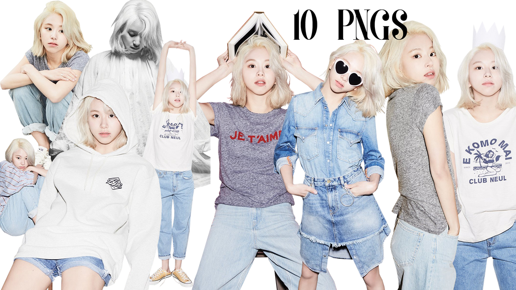 TWICE Chaeyoung PNG Pack Render {Oh Boy! Magazine} by