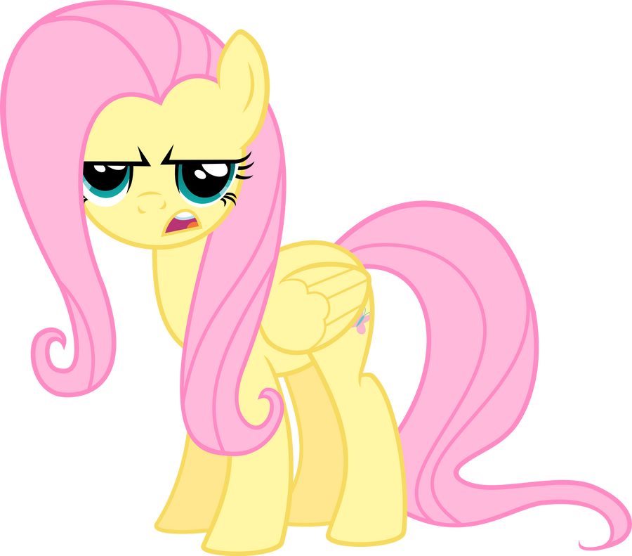Fluttershy is not happy - vector by VaderPL