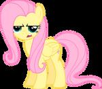 Fluttershy is not happy - vector