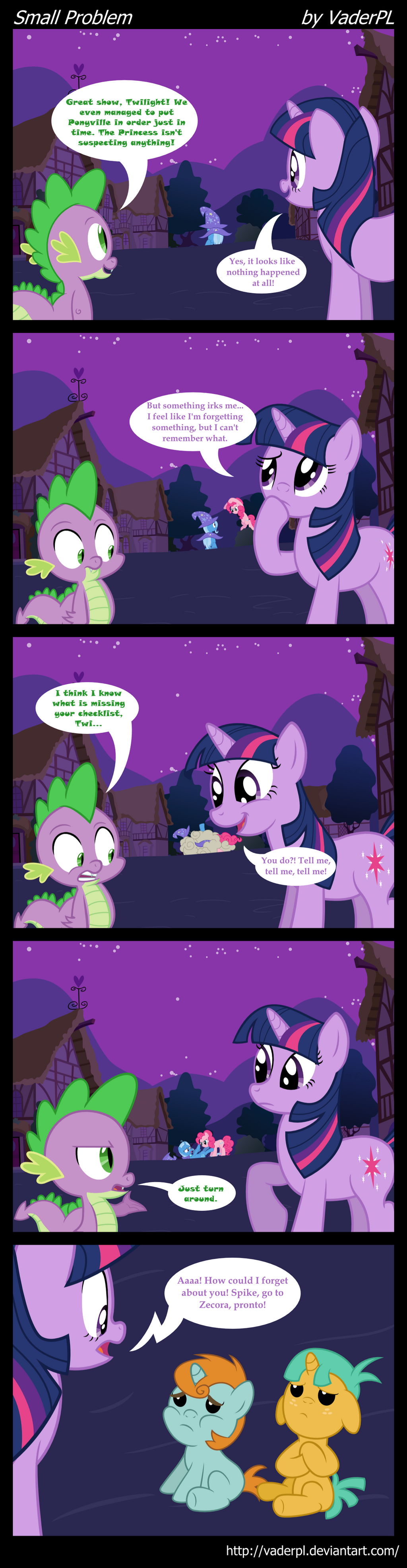 Small Problem - comic #1 by VaderPL