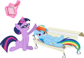 Rainbow Dash and Twilight Sparkle by VaderPL