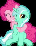 HUGS! Pinkie and Lyra