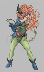 Poison Ivy + Wolverine by JomanMercado