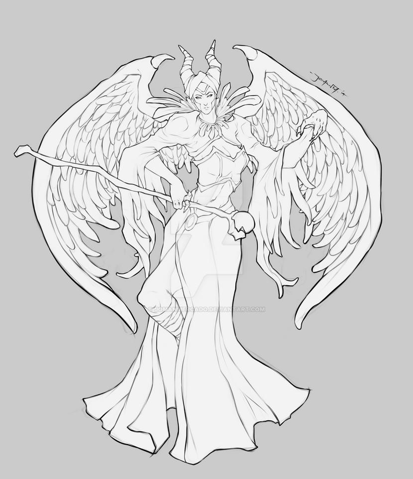 Maleficent WIP by JomanMercado on DeviantArt