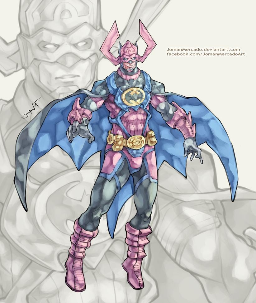Batman + Galactus by JomanMercado