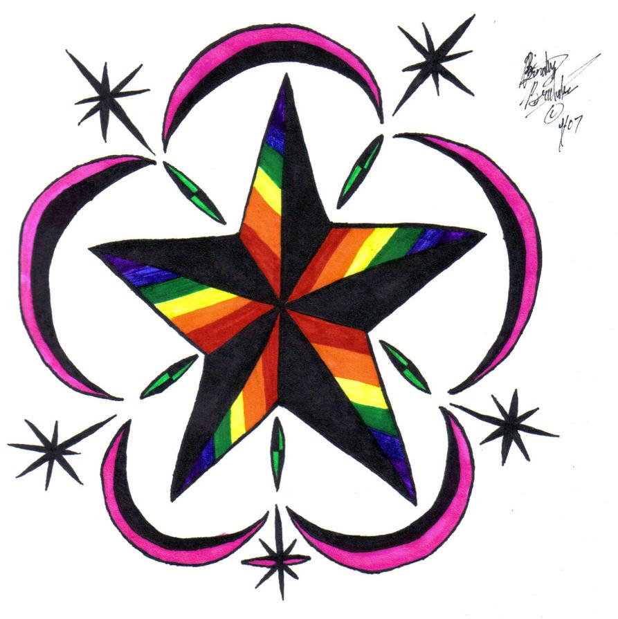 Rainbow Star Tattoos 10