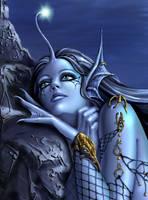 Mermaid close-up by Candra