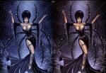 Elvira like a Spider Queen