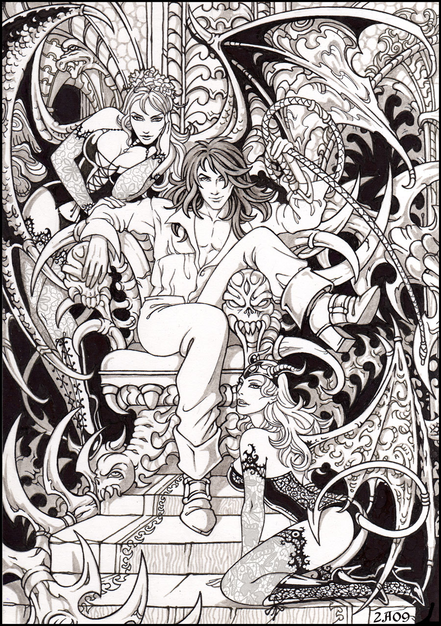 Part 14 / 9 Richter_Belmont_and_succubi_by_Candra