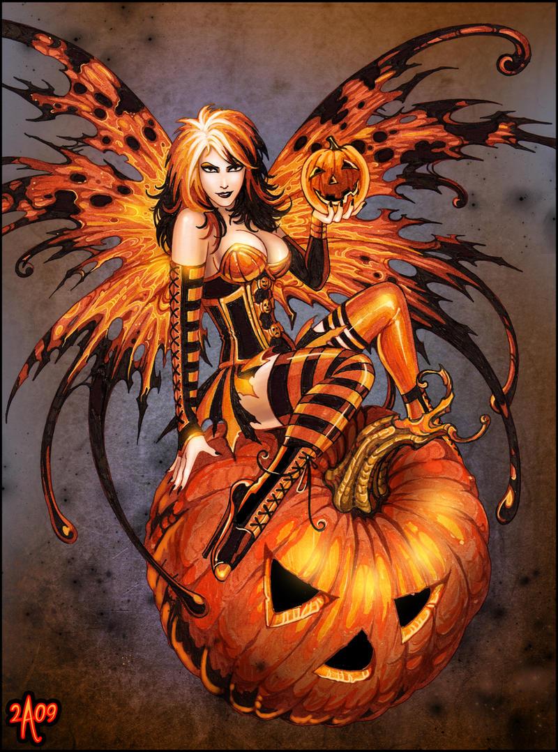 Fairy of Halloween Pumpkin