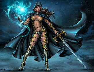 Magic warrior by Candra