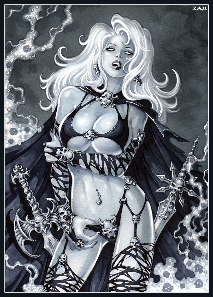 Lady Death By Candra On Deviantart