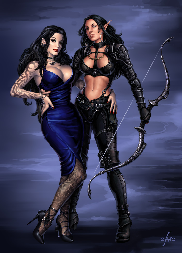 Vasha and Arkanya by Candra