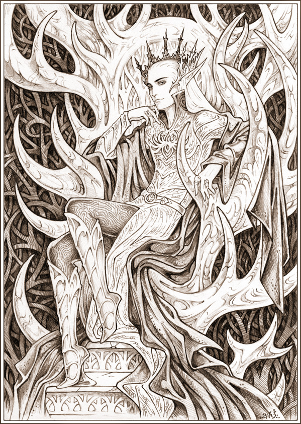 Kings Throne Drawing King on The Throne by Candra
