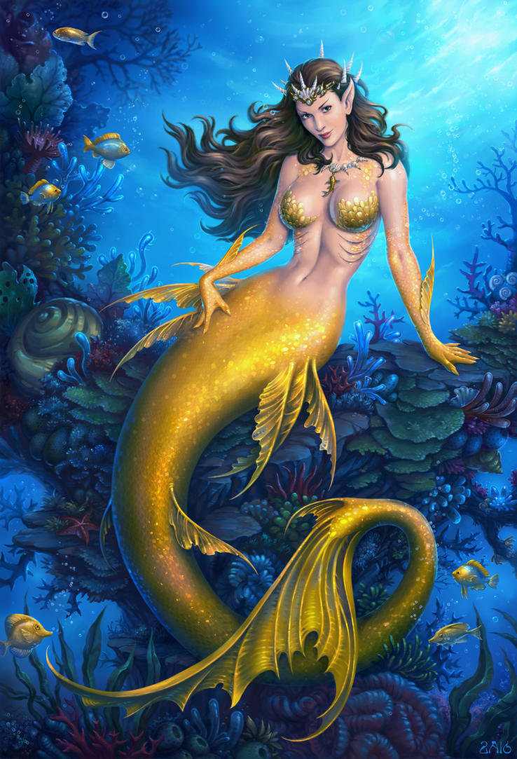 Golden Mermaid by Candra