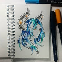 Instaart - Amber eyes by Candra