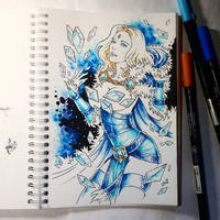 Instaart - Crystal Maiden (NSFW optional) by Candra