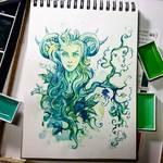 Instaart - Green Lady