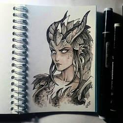 Instaart - Dragon Symmetra by Candra