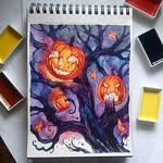 Instaart - Pumpkins on the tree