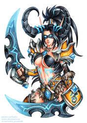 Demon Hunter Valeera (SFW version)