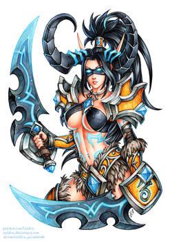 Demon Hunter Valeera (SFW version) by Candra
