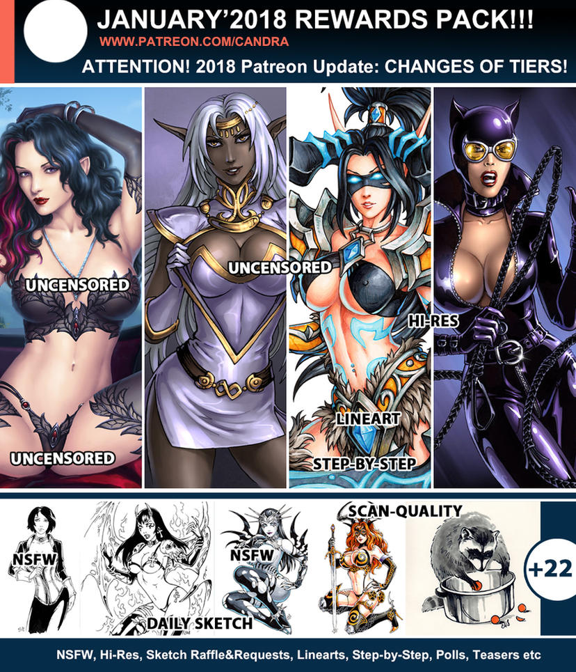 Patreon - January Rewards Pack by Candra