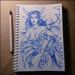 Sketchbook - Winged dragon girl