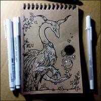 Sketchbook - Fantastic beast and magic balls by Candra