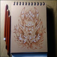 Sketchbook - Green Man by Candra