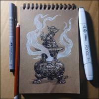 Sketchbook - Incense Burner by Candra
