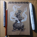 Sketchbook - Incense Burner