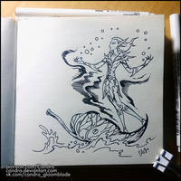 Sketchbook - Fairy boat by Candra
