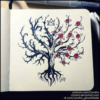 Inktober 2018 - Tree of Fairy Courts by Candra