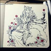Inktober 2018 - Kitsune by Candra