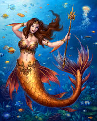 Commission - Mermaid Queen Salacia by Candra