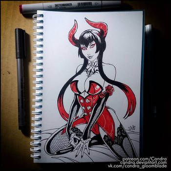 Inktober 2018 -  Eliza (NSFW on Patreon) by Candra