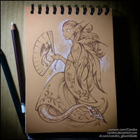 Sketchbook - Fairy with a Fan by Candra
