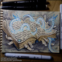 Sketchbook - Book Serpents by Candra