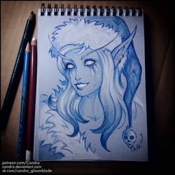 Sketchbook - Sugar Plum Sylvanas by Candra