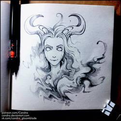 Sketchbook - Evil Spirit by Candra