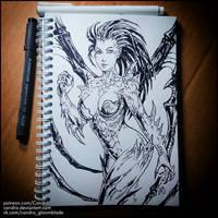 Sketchbook -  Sarah Kerrigan (NSFW on Patreon) by Candra