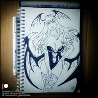 Sketchbook -  Morrigan (NSFW on Patreon) by Candra