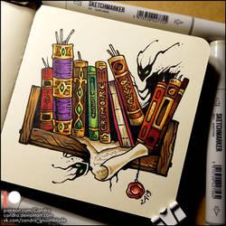 Sketchbook - Bookshelf by Candra