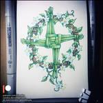 Sketchbook - Brigid's cross