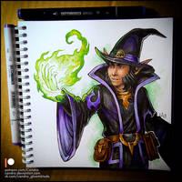Sketchbook - Halfling Wizard by Candra