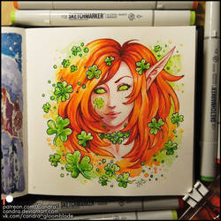 Sketchbook - Clover Fairy by Candra