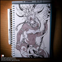 Sketchbook - Witch Doctor (NSFW on Patreon) by Candra