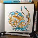 Sketchbook - Blue-eyed snail