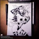 Sketchbook - Psylocke (NSFW on Patreon) by Candra